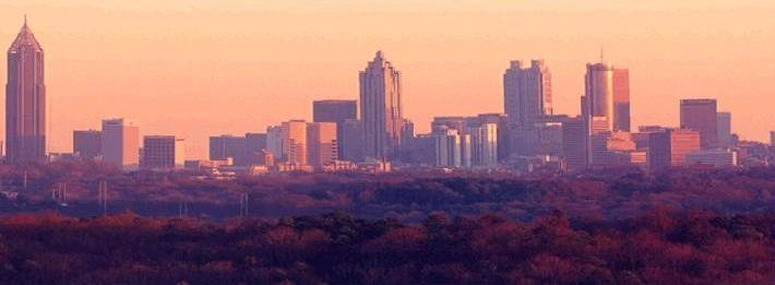 The Atlanta Georgia Skyline